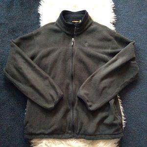 Gray timberland fleece zip up jacket XXL polartec